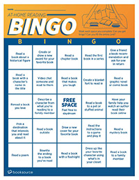 At-Home Reading Bingo (English)