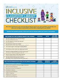 Inclusive Classroom Library Checklist