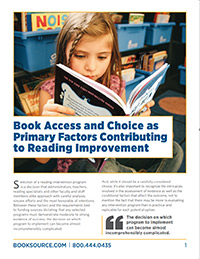 Free Guide: How Book Access and Choice Contribute to Reading Achievement