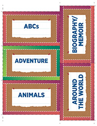 Classroom Library Printable Bin Labels