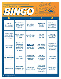 At-Home Reading Bingo (Spanish)