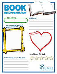 Student Book Recommendation Printable