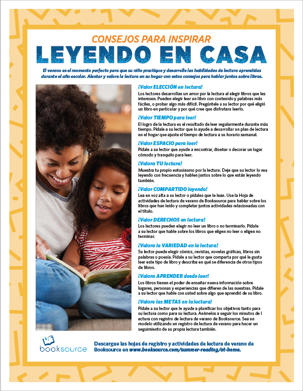 Summer Reading Tips Spanish